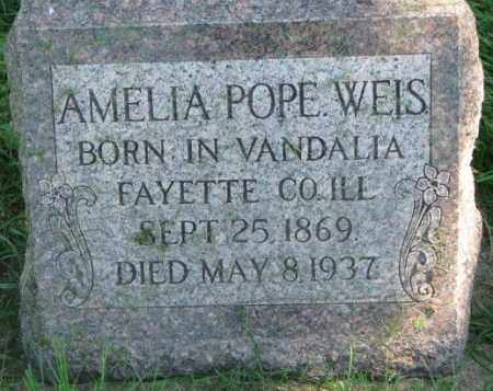 POPE WEIS, AMELIA - Dakota County, Nebraska | AMELIA POPE WEIS - Nebraska Gravestone Photos