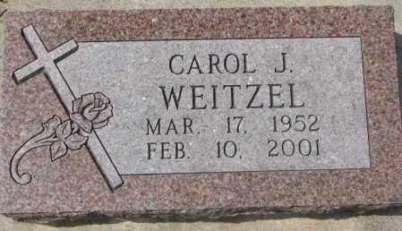 WEITZEL, CAROL J. - Dakota County, Nebraska | CAROL J. WEITZEL - Nebraska Gravestone Photos