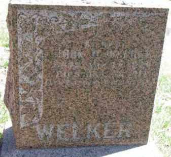 WELKER, JOHN D. - Dakota County, Nebraska | JOHN D. WELKER - Nebraska Gravestone Photos