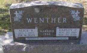 WENTHE, ALICE K. - Dakota County, Nebraska | ALICE K. WENTHE - Nebraska Gravestone Photos