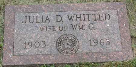 WHITTED, JULIA D. - Dakota County, Nebraska | JULIA D. WHITTED - Nebraska Gravestone Photos