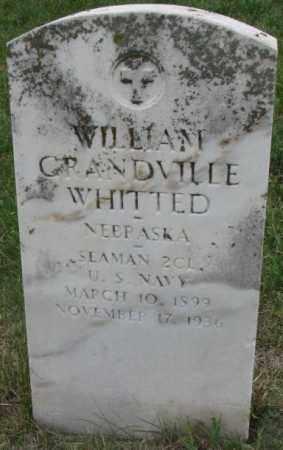 WHITTED, WILLIAM GRANDVILLE - Dakota County, Nebraska | WILLIAM GRANDVILLE WHITTED - Nebraska Gravestone Photos