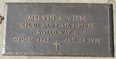 WIESE, MELVIN A. - Dakota County, Nebraska | MELVIN A. WIESE - Nebraska Gravestone Photos
