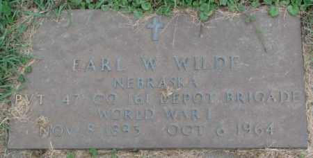 WILDE, EARL W. - Dakota County, Nebraska | EARL W. WILDE - Nebraska Gravestone Photos