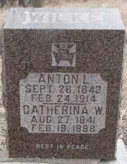WILKE, ANTON L. - Dakota County, Nebraska   ANTON L. WILKE - Nebraska Gravestone Photos