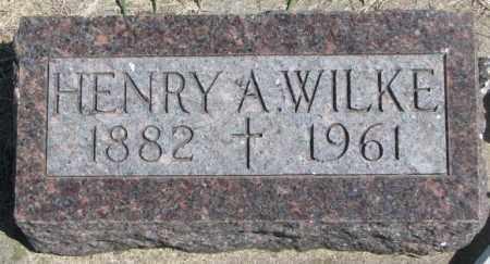 WILKE, HENRY A. - Dakota County, Nebraska | HENRY A. WILKE - Nebraska Gravestone Photos