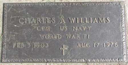 WILLIAMS, CHARLES A. - Dakota County, Nebraska | CHARLES A. WILLIAMS - Nebraska Gravestone Photos