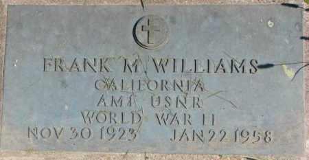 WILLIAMS, FRANK M. - Dakota County, Nebraska   FRANK M. WILLIAMS - Nebraska Gravestone Photos