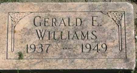 WILLIAMS, GERALD E. - Dakota County, Nebraska | GERALD E. WILLIAMS - Nebraska Gravestone Photos