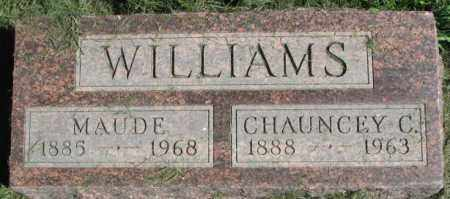 WILLIAMS, MAUDE - Dakota County, Nebraska   MAUDE WILLIAMS - Nebraska Gravestone Photos