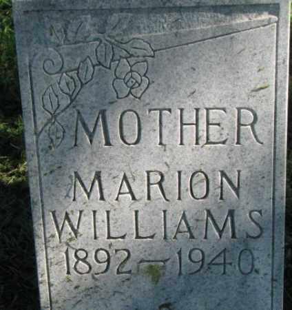 WILLIAMS, MARION - Dakota County, Nebraska   MARION WILLIAMS - Nebraska Gravestone Photos