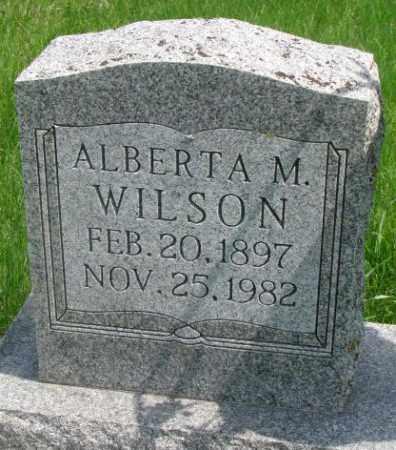 WILSON, ALBERTA M. - Dakota County, Nebraska | ALBERTA M. WILSON - Nebraska Gravestone Photos