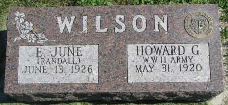 WILSON, HOWARD G. - Dakota County, Nebraska | HOWARD G. WILSON - Nebraska Gravestone Photos