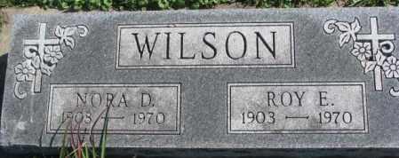 WILSON, ROY E. - Dakota County, Nebraska | ROY E. WILSON - Nebraska Gravestone Photos