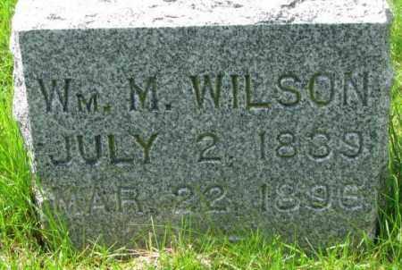 WILSON, WM. M. - Dakota County, Nebraska   WM. M. WILSON - Nebraska Gravestone Photos