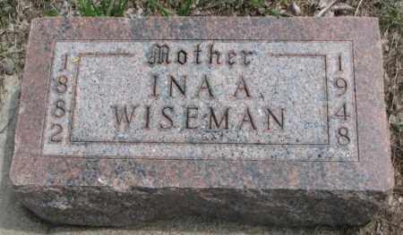WISEMAN, INA A. - Dakota County, Nebraska | INA A. WISEMAN - Nebraska Gravestone Photos