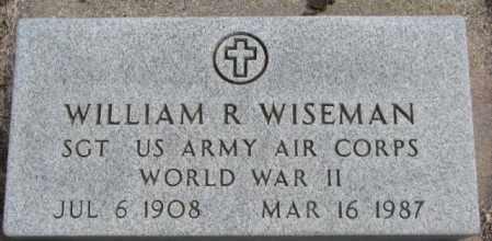 WISEMAN, WILLIAM R. (WW II) - Dakota County, Nebraska   WILLIAM R. (WW II) WISEMAN - Nebraska Gravestone Photos
