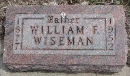 WISEMAN, WILLIAM F. - Dakota County, Nebraska | WILLIAM F. WISEMAN - Nebraska Gravestone Photos
