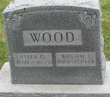 WOOD, ELLEN G. - Dakota County, Nebraska | ELLEN G. WOOD - Nebraska Gravestone Photos
