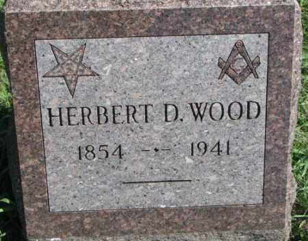 WOOD, HERBERT D. - Dakota County, Nebraska | HERBERT D. WOOD - Nebraska Gravestone Photos