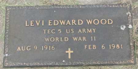 WOOD, LEVI EDWARD (WW II) - Dakota County, Nebraska   LEVI EDWARD (WW II) WOOD - Nebraska Gravestone Photos
