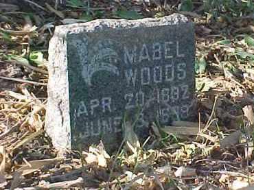 WOODS, MABEL - Dakota County, Nebraska | MABEL WOODS - Nebraska Gravestone Photos
