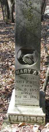 WOODS, MARY A. - Dakota County, Nebraska | MARY A. WOODS - Nebraska Gravestone Photos