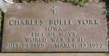 YORK, CHARLES BUELL - Dakota County, Nebraska   CHARLES BUELL YORK - Nebraska Gravestone Photos