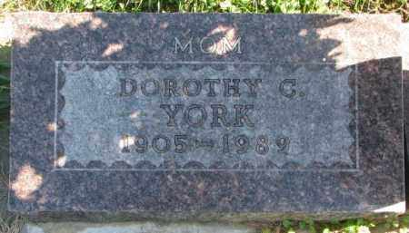 YORK, DOROTHY C. - Dakota County, Nebraska | DOROTHY C. YORK - Nebraska Gravestone Photos