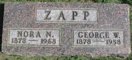 ZAPP, GEORGE W. - Dakota County, Nebraska | GEORGE W. ZAPP - Nebraska Gravestone Photos