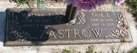 ZASTROW, FAYE E. - Dakota County, Nebraska | FAYE E. ZASTROW - Nebraska Gravestone Photos
