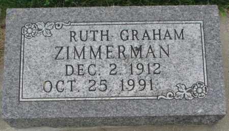 ZIMMERMAN, RUTH GRAHM - Dakota County, Nebraska | RUTH GRAHM ZIMMERMAN - Nebraska Gravestone Photos
