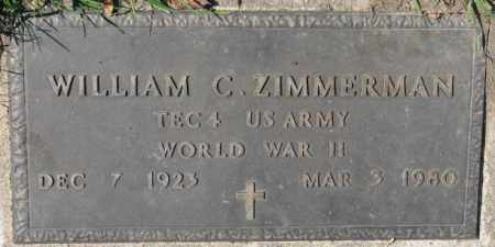 ZIMMERMAN, WILLIAM C. (WW II MARKER) - Dakota County, Nebraska | WILLIAM C. (WW II MARKER) ZIMMERMAN - Nebraska Gravestone Photos
