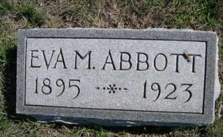 ABBOTT, EVA M. - Dawes County, Nebraska   EVA M. ABBOTT - Nebraska Gravestone Photos