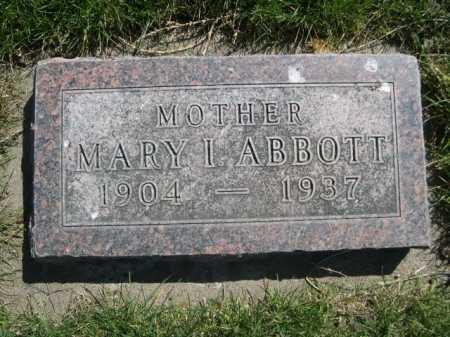ABBOTT, MARY I. - Dawes County, Nebraska | MARY I. ABBOTT - Nebraska Gravestone Photos