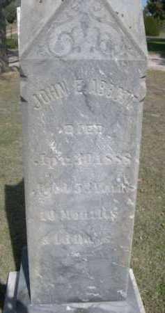 ABOTT, JOHN E. - Dawes County, Nebraska | JOHN E. ABOTT - Nebraska Gravestone Photos