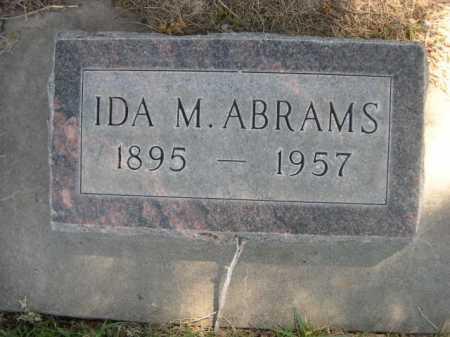 ABRAMS, IDA M. - Dawes County, Nebraska   IDA M. ABRAMS - Nebraska Gravestone Photos