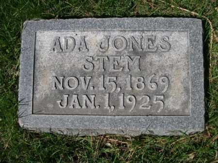 JONES STEM, ADA - Dawes County, Nebraska | ADA JONES STEM - Nebraska Gravestone Photos