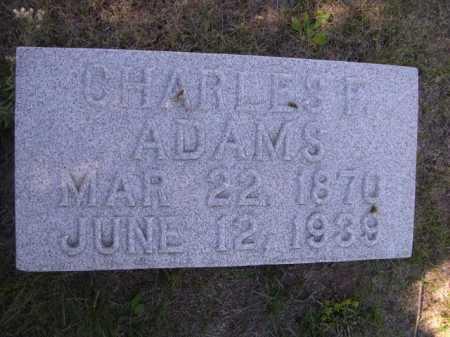 ADAMS, CHARLES F. - Dawes County, Nebraska | CHARLES F. ADAMS - Nebraska Gravestone Photos