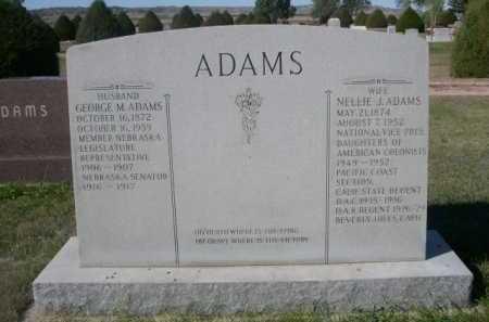ADAMS, NELLIE J. - Dawes County, Nebraska | NELLIE J. ADAMS - Nebraska Gravestone Photos