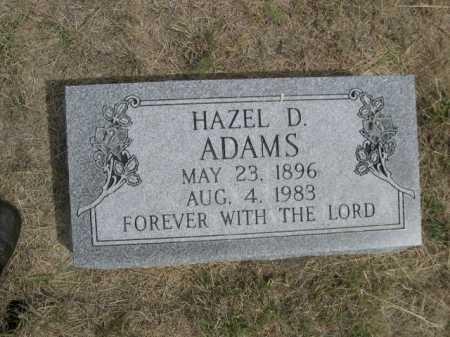 ADAMS, HAZEL D. - Dawes County, Nebraska   HAZEL D. ADAMS - Nebraska Gravestone Photos