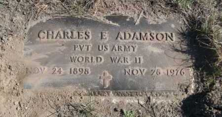 ADAMSON, CHARLES E. - Dawes County, Nebraska   CHARLES E. ADAMSON - Nebraska Gravestone Photos