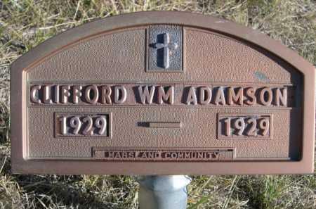 ADAMSON, CLIFFORD WM. - Dawes County, Nebraska | CLIFFORD WM. ADAMSON - Nebraska Gravestone Photos