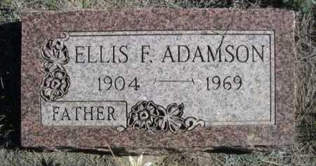 ADAMSON, ELLIS F. - Dawes County, Nebraska | ELLIS F. ADAMSON - Nebraska Gravestone Photos