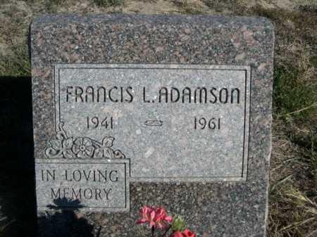 ADAMSON, FRANCIS L. - Dawes County, Nebraska   FRANCIS L. ADAMSON - Nebraska Gravestone Photos
