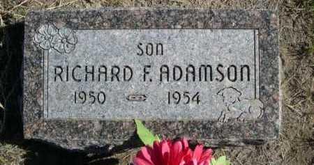ADAMSON, RICHARD F. - Dawes County, Nebraska   RICHARD F. ADAMSON - Nebraska Gravestone Photos