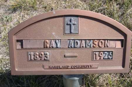 ADAMSON, RAY - Dawes County, Nebraska | RAY ADAMSON - Nebraska Gravestone Photos