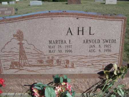 AHL, MARTHA E. - Dawes County, Nebraska | MARTHA E. AHL - Nebraska Gravestone Photos
