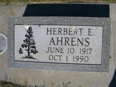 AHRENS, HERBERT E. - Dawes County, Nebraska | HERBERT E. AHRENS - Nebraska Gravestone Photos