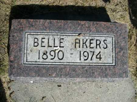 AKERS, BELLE - Dawes County, Nebraska | BELLE AKERS - Nebraska Gravestone Photos